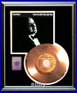 Frank Sinatra New York New York 45 RPM Gold Metalized Record Rare Non Riaa Award