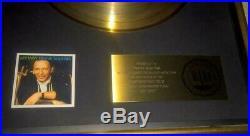 Frank Sinatra RIAA Record Album Gold Award Frank Sinatra