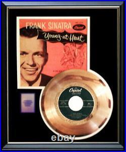 Frank Sinatra Young At Heart 45 RPM Gold Metalized Record Rare Non Riaa Award