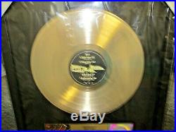 GENUINE, KISS, UNPLUGGED VINTAGE STYLE RIAA GOLD RECORD AWARD To Eric Carr