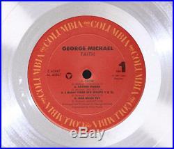 GEORGE MICHAEL FAITH LP PLATINUM RECORD AWARD gold cd mint unique sealed gift