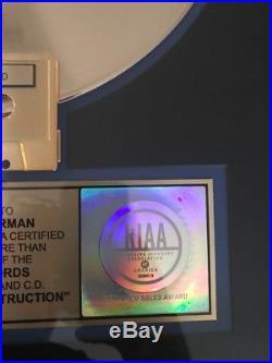 GUNS N ROSES RIAA Gold Record Award Appetite For Destruction RARE Slash Axl Duff