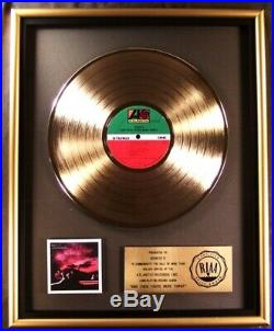 Genesis And Then There Were Three LP Gold RIAA Record Award Atlantic Records