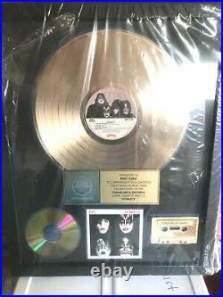 Genuine Kiss Dynasty Riaa Gold Record Award. Kiss, Gene Simmons Eric Carr