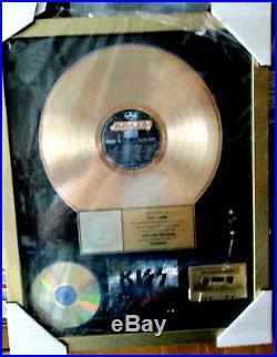 Genuine Kiss Revenge Riaa Certified Gold Record Award, Kiss Drummer Eric Carr