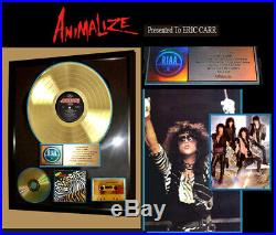 Genuine Kiss Riaa Gold Record Animalize Gold Award To Kiss Drummer Eric Carr