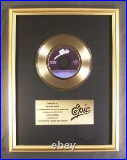 George Jones He Stopped Loving Her 45 Gold Non RIAA Record Award Epic