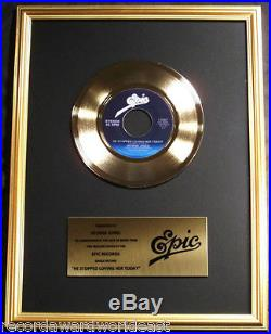 George Jones He Stopped Loving Her 45 Gold Non RIAA Record Award Epic Records