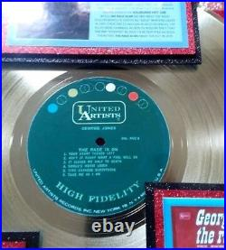 George Jones THE RACE IS ON Gold Record Award His 1st, 1965