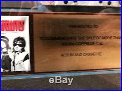 Georgia Satellites RIAA Gold Record LP Award / 1986 500,000 Rare