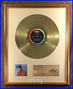 Glen Campbell Wichita Lineman LP Gold Non RIAA Record Award Capitol Records