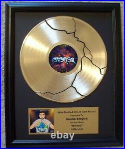 Gold Record Broke Broken Pattern LP Album Disk Award Trophy Prize Custom Plaque
