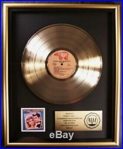 Grease Original Soundtrack LP Gold RIAA Record Award Presented To Frankie Valli