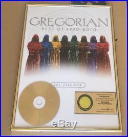 Gregorian Gold Award goldene Schallplatte Best of 1990 2010! The original