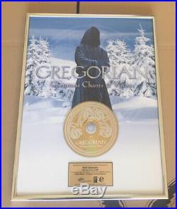 Gregorian Gold Award goldene Schallplatte Christmas Chants & Visions 2010