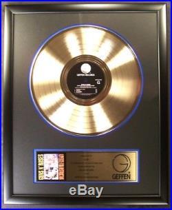 Guns N' Roses Appetite For Destruction LP Gold Non RIAA Record Award Geffen