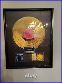 HOOTERS Nervous Night Gold Record Award RIAA Certified Original c1986