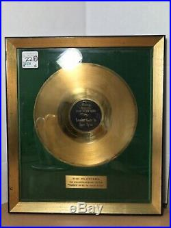 Herb Reed The Platters Mercury Gold Record Award Smoke Gets In Your Eyes Real