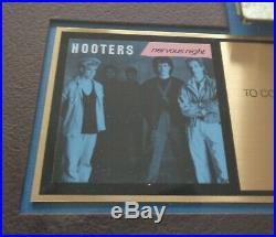 Hooters 1985 Nervous Night RIAA Certified Gold Album Record Cassette Award