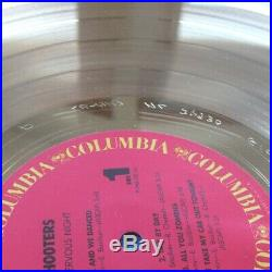 Hooters Nervous Night Riaa Certified Gold Record Award 10/18/1985 With A Stamper