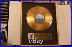 Huey Lewis and the News RIAA Certified Gold Sales Award for 500,000 Copies FORE