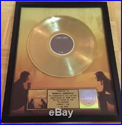 I AM SAM OST MOTION PICTURE SOUNDTRACK RIAA AWARD Certified GOLD RECORD FRAMED