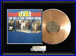 Ike And Tina Turner Show Rare Gold Metalized Record Vinyl Lp Non Riaa Award