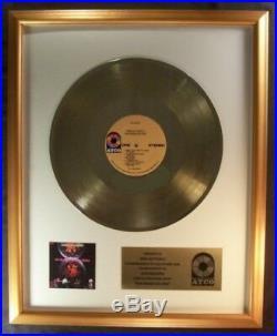 Iron Butterfly In-A-Gadda-Da-Vida LP Gold Non RIAA Record Award Atco Records