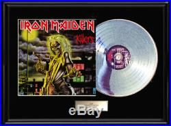 Iron Maiden Killers Album Framed Lp White Gold Silver Record Rare Non Riaa Award