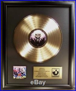 Iron Maiden Number Of The Beast LP Gold Non RIAA Record Award Harvest Records