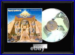 Iron Maiden Powerslave White Gold Platinum Tone Record Rare Non Riaa Award Rare