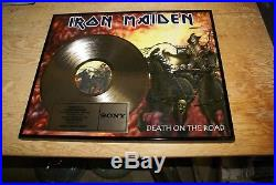 Iron Maiden Presented To Tower Records Gold Record Award Death On The Road