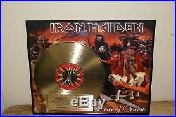 Iron Maiden Presented to Tower Records Gold Record Award Dance of Death