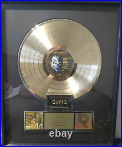 Iron Maiden Somewhere in Time Gold RIAA Record Award Presented to Iron Maiden
