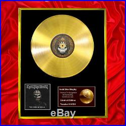 Iron Maiden The Book Of Souls CD Gold Disc Vinyl Record Award Display Lp
