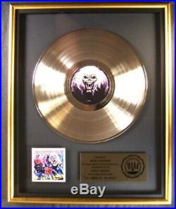 Iron Maiden The Number Of The Beast LP Gold RIAA Record Award Harvest Records