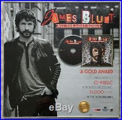 JAMES BLUNT All The Lost Souls gold record award Holland NVPI no RIAA BPI