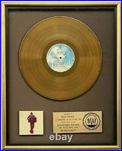 JAMES TAYLOR 1976 In The Pocket RIAA GOLD RECORD AWARD to Warner Bros Chairman