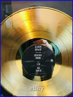 JOE JACKSON NIGHT AND DAY LP Gold Non RIAA Record Award A&M Records