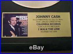 JOHNNY CASH I Walk The Line Gold LP Record Disc + Mini Album Not a Award