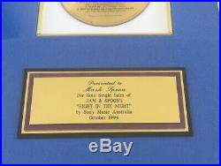 Jam & Spoon Right in the night Gold Award von Mark Spoon! Australien 1994