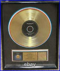 Jamiroquai Travelling Without Moving Gold RIAA Record Award