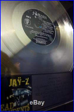 Jay-Z Dead Presidents RIAA Gold Platinum Record Award presented to Dame Dash