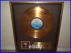 Jethro Tull Riaa Gold Record Award Live Bursting Out Aqualung Skating Away