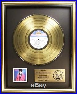 Joan Jett And The Blackhearts LP Gold RIAA Record Award Boardwalk Records