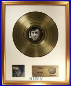 John Lennon Imagine LP Gold Non RIAA Record Award Apple Records To John Lennon