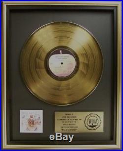 John Lennon Walls And Bridges LP Gold RIAA Record Award Apple Records