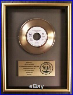 John Lennon Woman 45 Gold RIAA Record Award Presented To Geffen Records