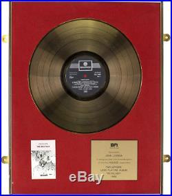 John Lennon personal Bpi certified gold record award revolver The Beatles Disc