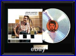 John Mayer White Gold Platinum Toned Record Room For Squares Non Riaa Award Rare